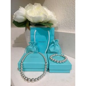 Tiffany & Co. Ball Necklace & Ball Bracelet